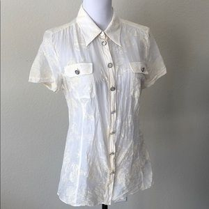 D & G French Cotton Toile Print Top